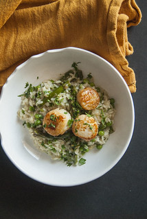 Scallops and Spring Veg Risotto 3 | by theSeasonaljunkie