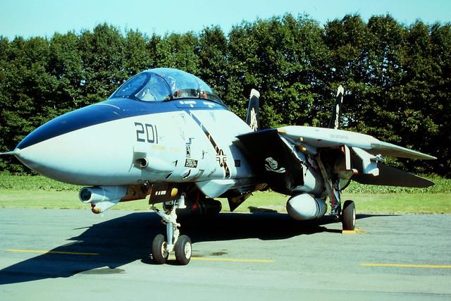 F-14B Tomcat 163224/AA-201 VF-103 U.S.Navy. Brustem Open-House, Belgium. 07-09-1996.