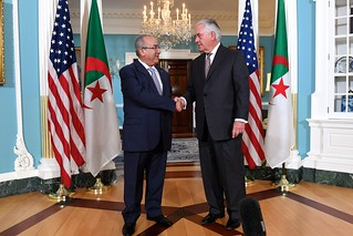 Secretary Tillerson Speaks With Algerian Foreign Minister Lamamra Before Their Meeting in Washington