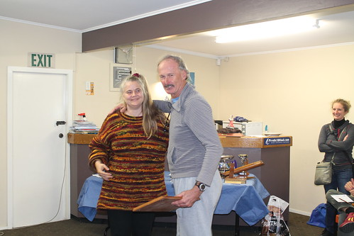 Paul Page winner of the River Race Series and Chantal Grass | by PLSC (Panmure Lagoon Sailing Club)