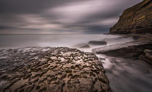 dunravenbay southerndown ogmore wales beach strand rocks felsen clouds wolken longexposure langzeitbelichtung water wasser waves wellen oliverherbold
