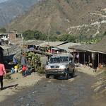 Rough road through a market