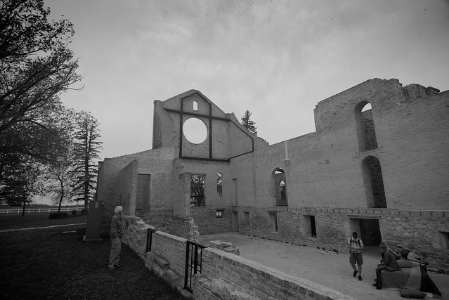 Trappist Monastery with Shakespeare play rehearsals