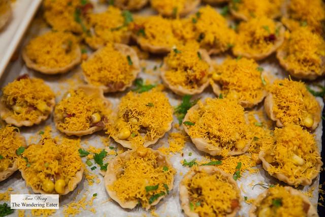 Crispy corn bskets from Kailash Parbat