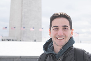 Brother in front of Washington Memorial   by SammyIsra