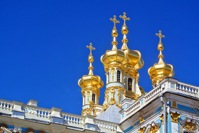 Golden domes of Tsarskoye Selo