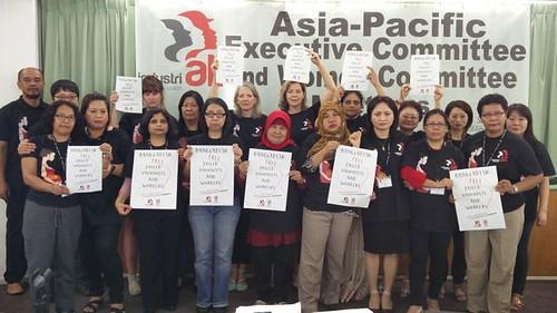 圖08婦女委員會聲援孟加拉工會幹部