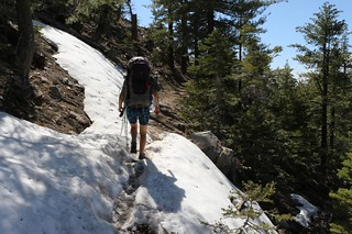 0236 We hike across soft snow on the north slope of the ridge as the PCT continues south of Coon Creek | by _JFR_