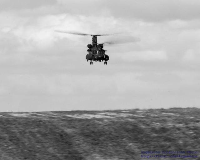 .@BoeingDefense MH-47G Coming Over the Horizon