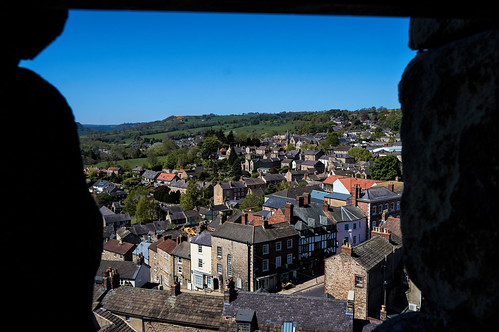 richmond northyorkshire england gb rooftops landscape cityscape sky buildings