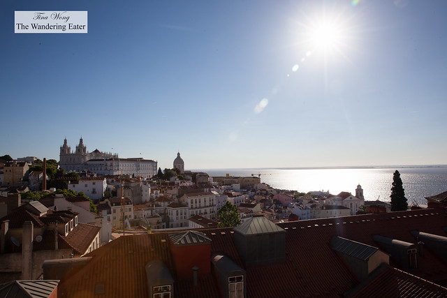 Sun beaming down on Lisbon