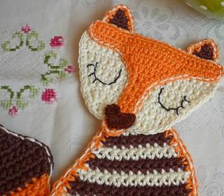 Crochet Fox Lady Coaster