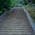 stairs to view point Kakazutaka Observatory park