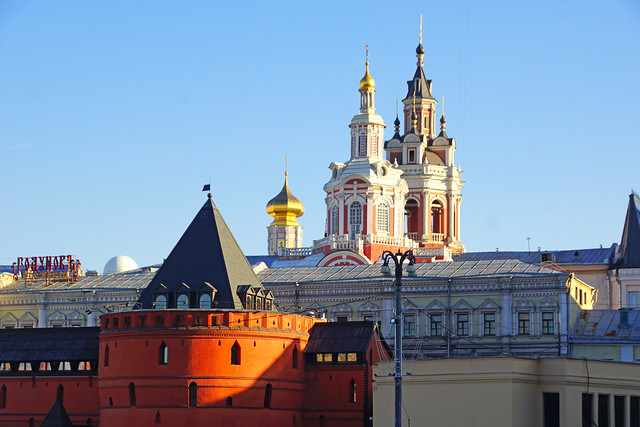 Church of the Assumption of the Blessed Virgin from the Revolution Sq, Moscow