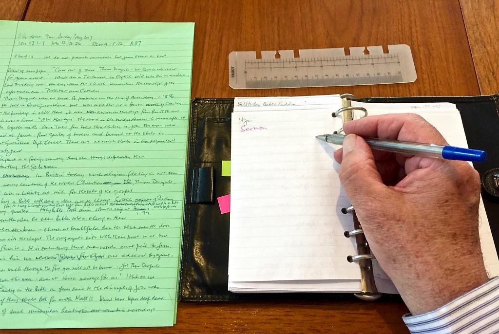 Writing 16-365 (11) | I'm preaching tomorrow so, having writ