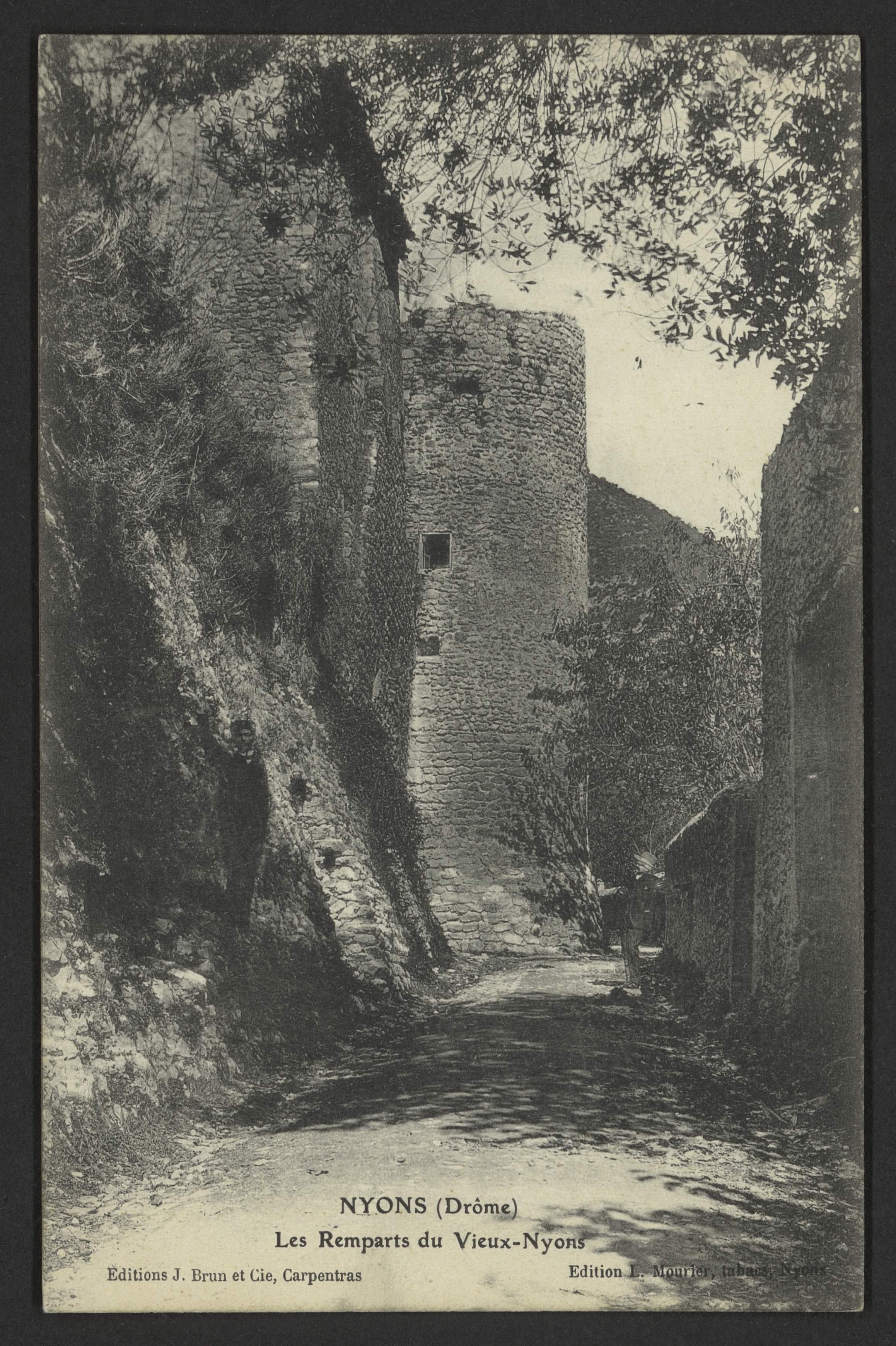 Nyons (Drôme) - Les remparts du vieux-Nyons