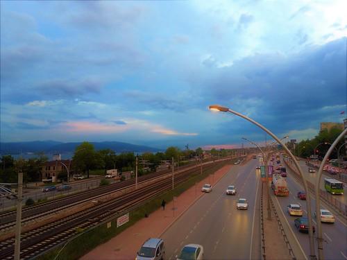 sunset atardecer puestadesol turquia turkey türkiye güneşbatımı marmaradeniz marmaraocean mardelmarmara puente bridge köprüsü halkevi skylights