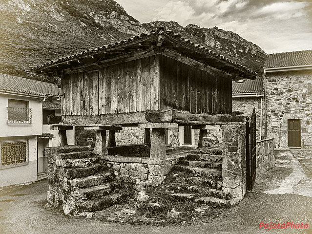 Horreo. Caunedo. Asturias. Spain.