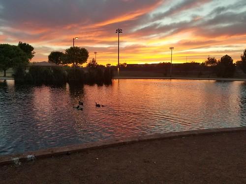 sunset clouds cloudy lake
