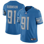 Nike Lions #91 A'Shawn Robinson Blue Team Color Men's Stitched NFL Limited Jersey