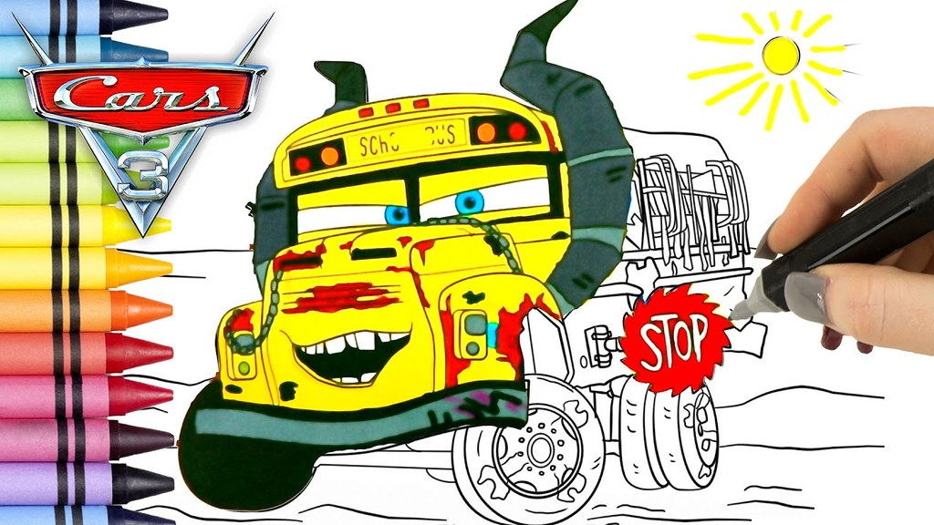 Cars 3 Thunder Hollow Coloring Pages - Coloring
