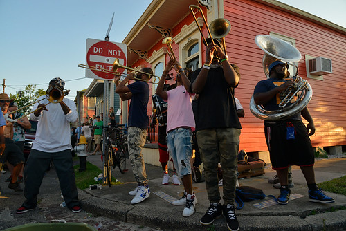 Free Spirit Brass Band. Photo by Charlie Steiner.
