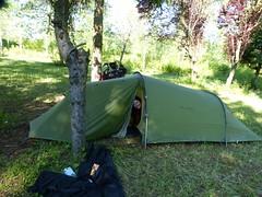 Camping dns un parc en Serbie