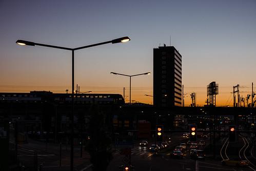 sunset zurich urban citylights