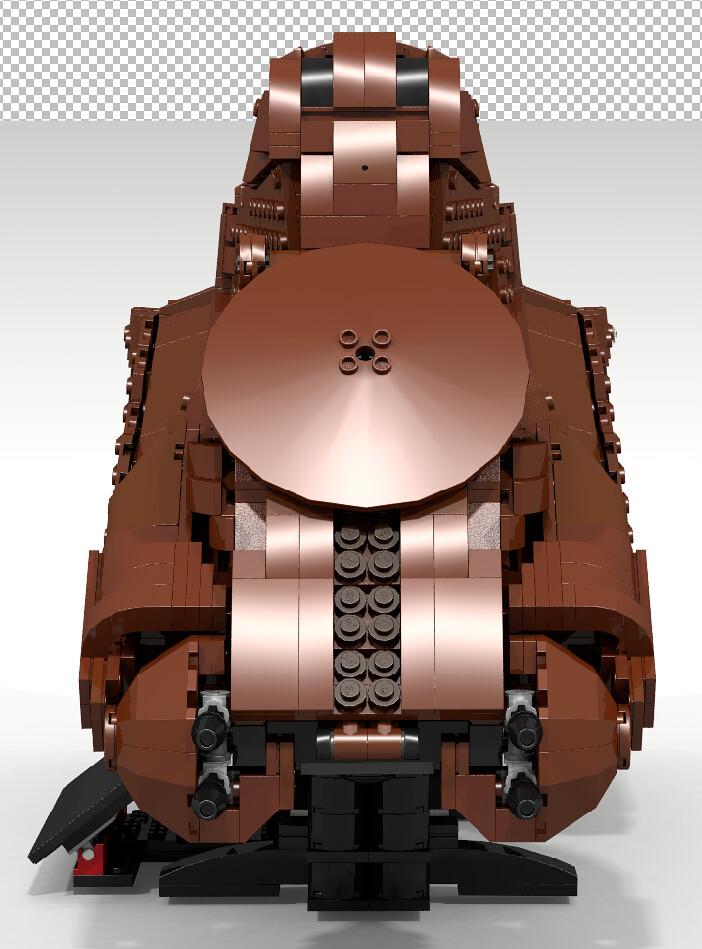 LEGO MOC UCS Star Wars Trade Federation MTT front | Cpt