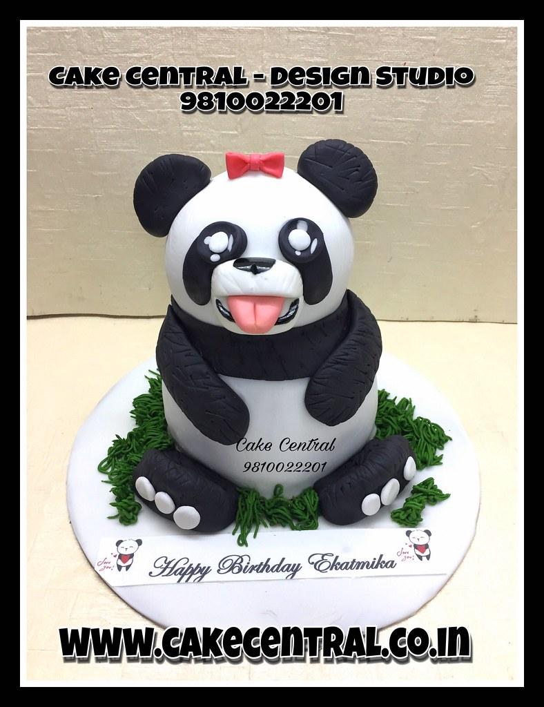 Super Panda Cake Panda Cake Bear Kids Birthdaycake Cake 3 Flickr Birthday Cards Printable Nowaargucafe Filternl