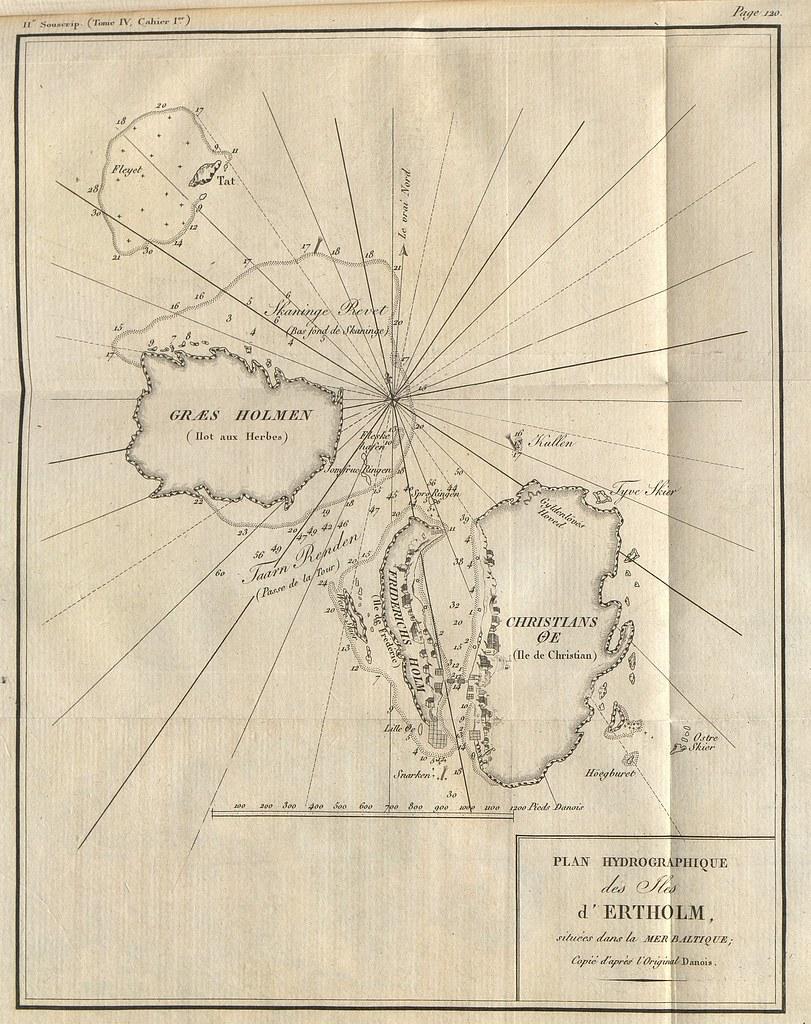... Plan hydrographique des îles d'Ertholm - by Université de Caen Normandie