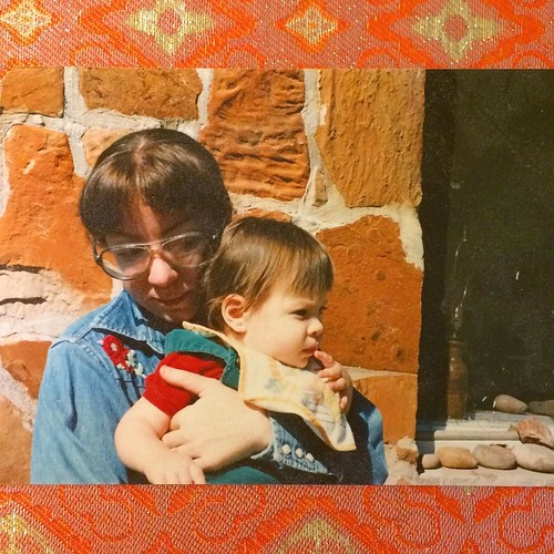 Out of the very few photographs I have of my mother holding me (maybe only 2 or 3) this one is probably my favorite. Taken in front of the stone cottage in Lone Grove built for my great grandmother. My grandparents lived there too, and now my aunt and unc | by Angeliska