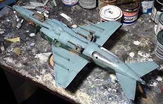 "1:72 Yakovlev Yak-138 (NATO ASCC Code 'Flitchbeam'); ""17 Red"" of the Soviet Air Force Frontal Aviation's 24th Air Army, 138th Fighter Aviation Division; Mirgorod AB (Ukraine), 1989 (Whif/Kitbashing) - WiP 
