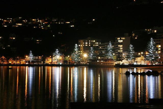 Lighting up Oriental Bay - Explored
