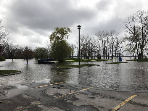 A flooded parking lot at Britannia Park | by Lenny W.