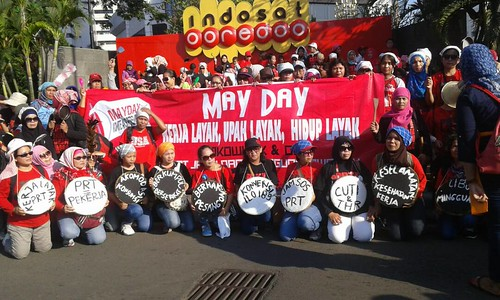 2017-5-1 Indonesia: JALA PRT rally for rights of domestic workers