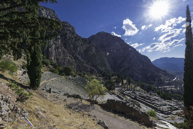 Delphi, The Northern Slope of the Sanctuary – IV - The Theater