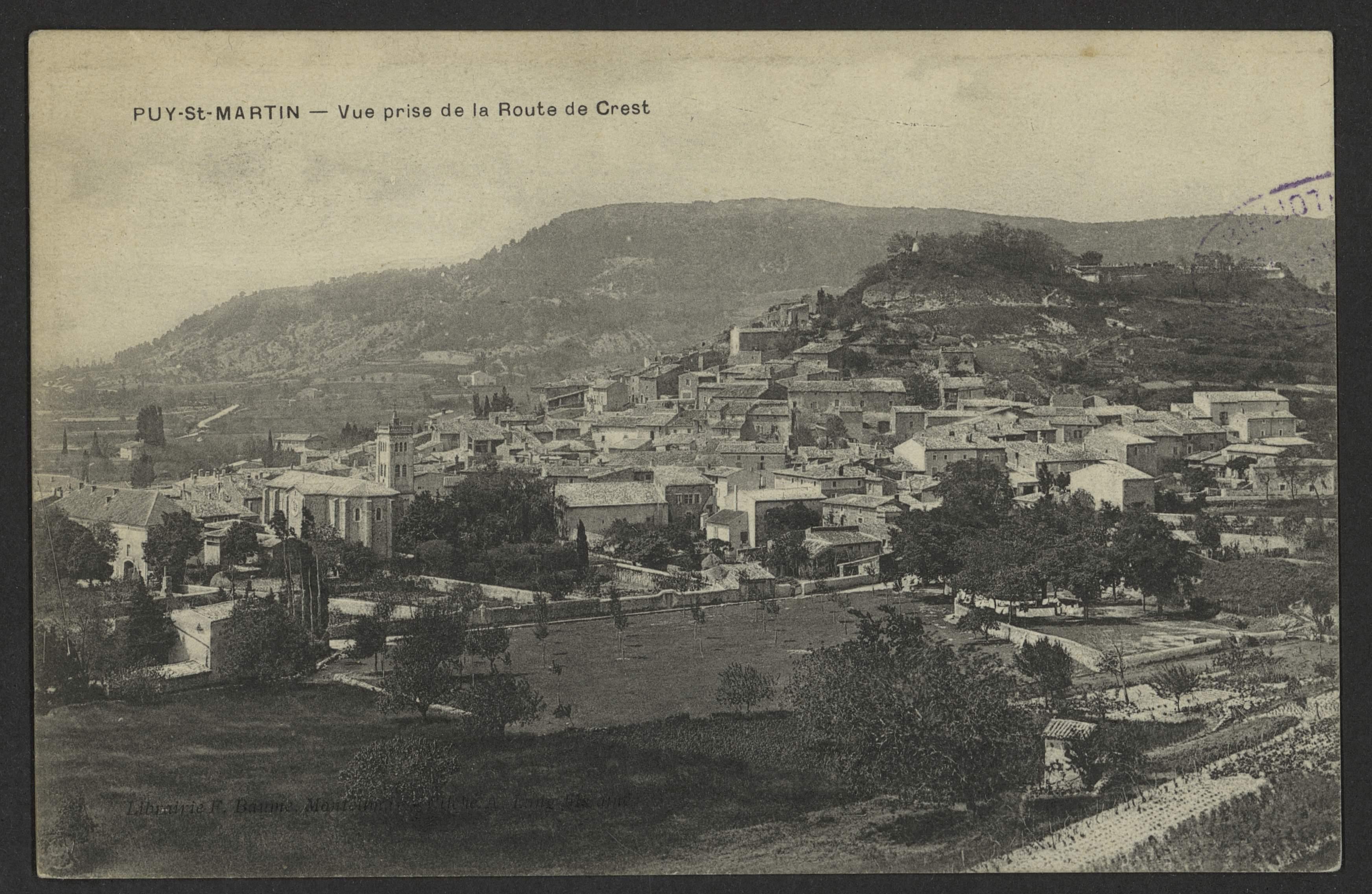 Puy-St-Martin - Vue prise de la route de Crest