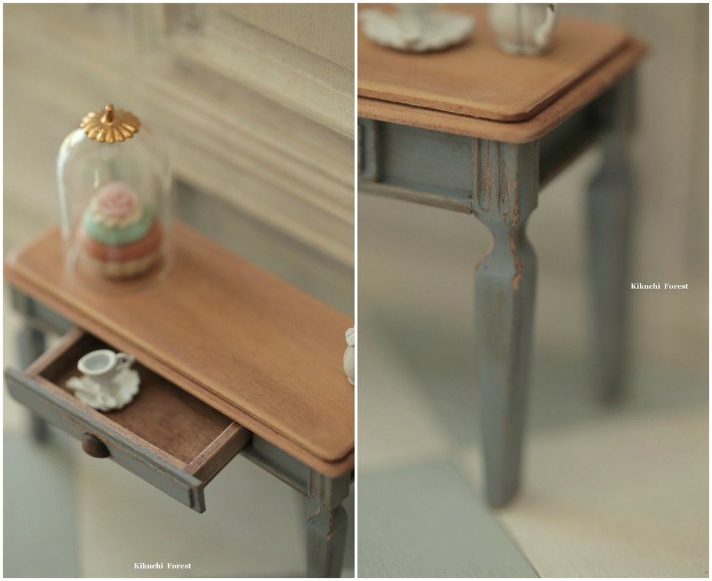 Handmade Dollhouse Furniture Kitchen - Kitchen Table - 1/1 ...