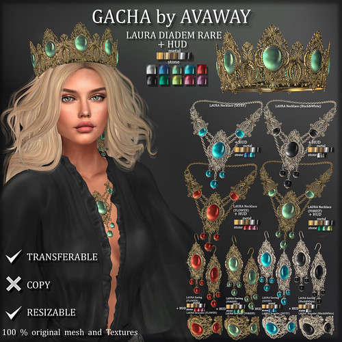 LAURA Jewelry Set at Gacha Garden | by Avaway