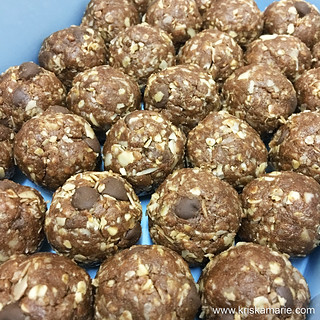 No-Bake Protein Energy Balls | by kriskamarie