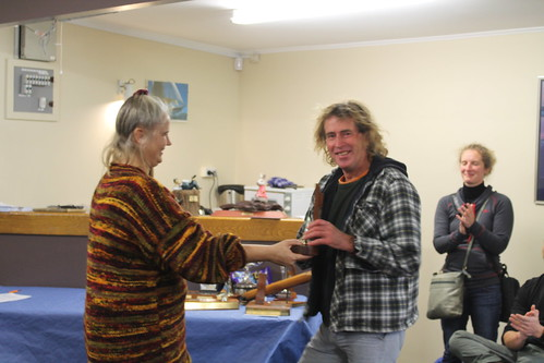 Andrew Irving receiving trophy for 1st Radial in the Closing Regatta | by PLSC (Panmure Lagoon Sailing Club)