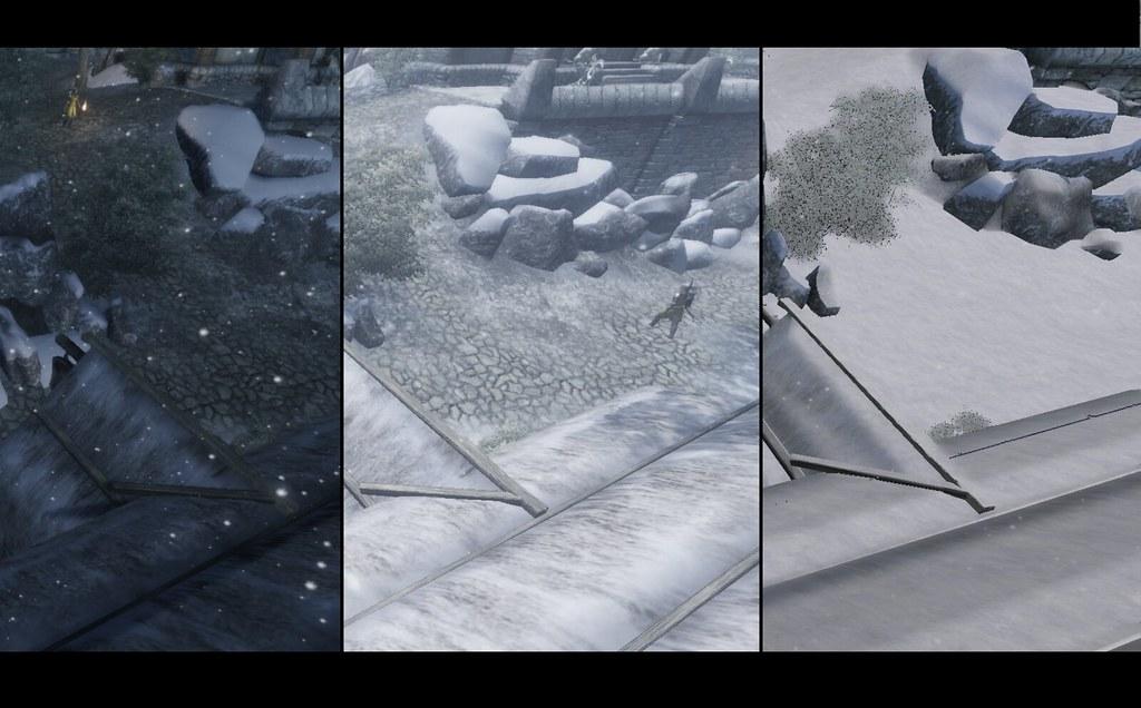 Oblivon Reloaded - Snow Accumulation | Cinematic ENB slightl