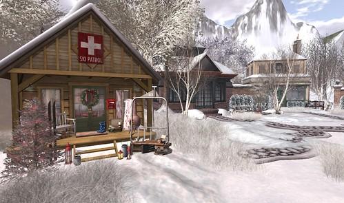 Winter Landscape Village (Ski Patrol Cabin)   by Hidden Gems in Second Life (Interior Designer)