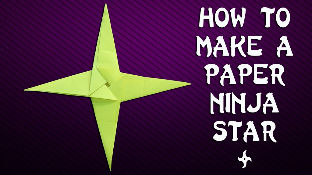 How To Make 8 Pointed Transforming Ninja Star - Step by Step ... | 576x1024
