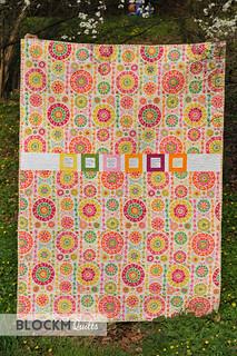 Very cheery backing fabric!