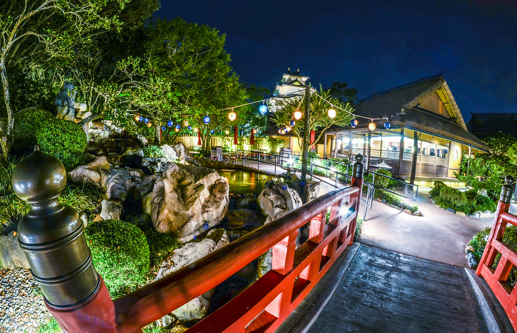 Japan bridge Epcot night
