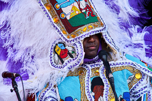 Big Chief Bird and the Young Hunters MGI on Day 4 of Jazz Fest 2017 - May 4 Photo by Eli Mergel