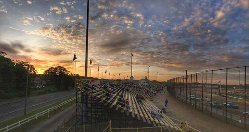 races newegypt nj newjersey speedway track sunset clouds