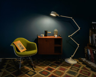 My chair and lamp.